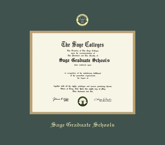 Custom Diploma Frames & Certificate Frames - Framing Success: Sage ...