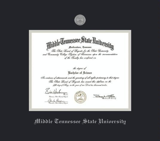 Custom Diploma Frames & Certificate Frames - Framing Success: MTSU ...