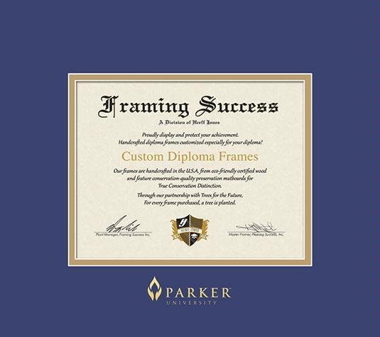 Custom Diploma Frames & Certificate Frames - Framing Success: Parker ...