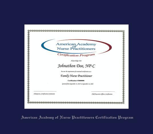 Custom Diploma Frames & Certificate Frames - Framing Success: AANPCP ...