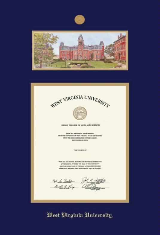 Custom Diploma Frames & Certificate Frames - Framing Success: WVU ...