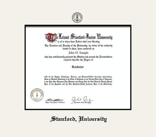 Stanford Diploma Frame Custom diploma frames & certificate frames ...