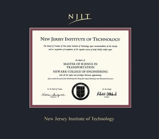 94 The College Of New Jersey Diploma Frame