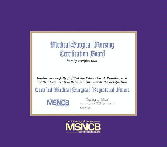 certificate board surgical medical nursing frames purple gold