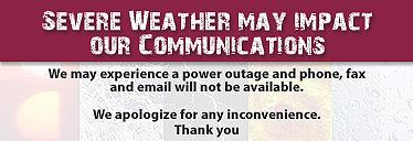 Severe weather may cause a power outage today