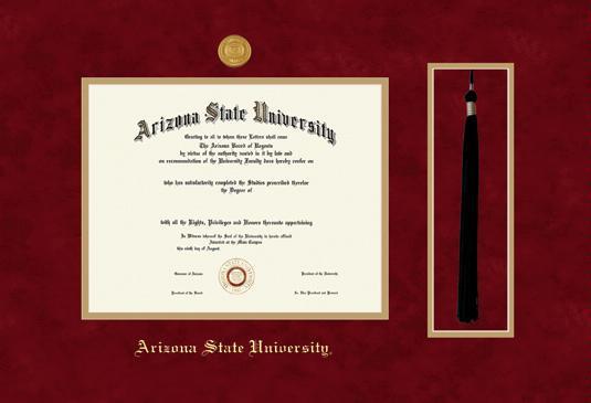 asu diploma certificate arizona state framingsuccess