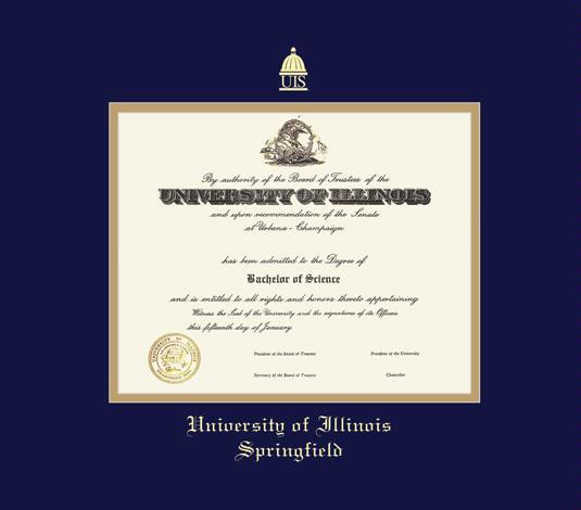 Diploma: University Of Illinois Diploma Frame