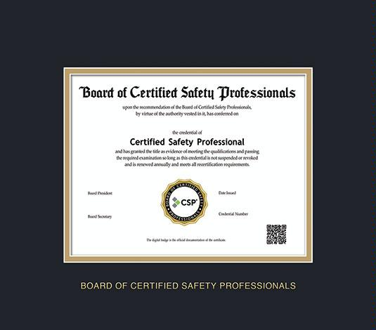 Certifications Board Of Certified Safety Professionals | PDF Library